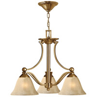 Bolla 3 Light 23 inch Brushed Bronze Chandelier Ceiling Light in Light Amber Seedy