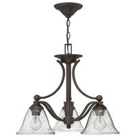 Hinkley 4653OB-CL Bolla 3 Light 23 inch Olde Bronze Chandelier Ceiling Light in Clear Seedy