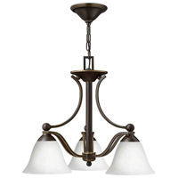 Hinkley 4653OB-OPAL Bolla 3 Light 22 inch Olde Bronze Chandelier Ceiling Light in Etched Opal