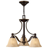 Hinkley 4653OB Bolla 3 Light 23 inch Olde Bronze Chandelier Ceiling Light in Amber Seedy