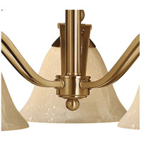 Hinkley 4653BR Bolla 3 Light 23 inch Brushed Bronze Chandelier Ceiling Light in Light Amber Seedy alternative photo thumbnail