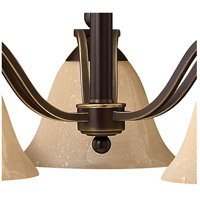 Hinkley 4653OB Bolla 3 Light 23 inch Olde Bronze Chandelier Ceiling Light in Amber Seedy alternative photo thumbnail