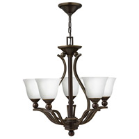Hinkley 4655OB-OPAL Bolla 5 Light 24 inch Olde Bronze Foyer Chandelier Ceiling Light in Etched Opal