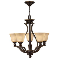 Hinkley 4655OB Bolla 5 Light 24 inch Olde Bronze Foyer Chandelier Ceiling Light in Amber Seedy