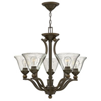 Bolla 5 Light 24 inch Olde Bronze Chandelier Ceiling Light in Clear Seedy, Clear Seedy Glass