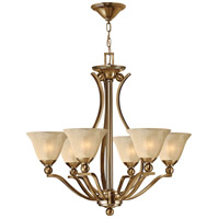 Bolla 6 Light 29 inch Brushed Bronze Chandelier Ceiling Light in Light Amber Seedy