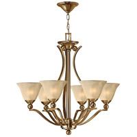 Hinkley 4656BR Bolla 6 Light 29 inch Brushed Bronze Foyer Chandelier Ceiling Light in Light Amber Seedy