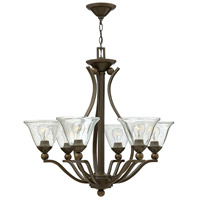 Bolla 6 Light 29 inch Olde Bronze Foyer Chandelier Ceiling Light in Clear Seedy, Clear Seedy Glass