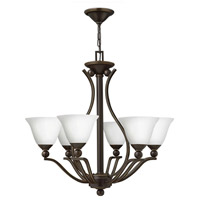 Hinkley 4656OB-OPAL Bolla 6 Light 29 inch Olde Bronze Foyer Chandelier Ceiling Light in Etched Opal
