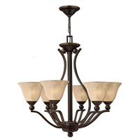 Bolla 6 Light 29 inch Olde Bronze Foyer Chandelier Ceiling Light in Light Amber Seedy