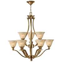 Bolla 9 Light 35 inch Brushed Bronze Chandelier Ceiling Light in Light Amber Seedy