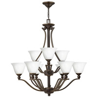 Hinkley 4657OB-OPAL Bolla 9 Light 35 inch Olde Bronze Chandelier Ceiling Light in Etched Opal