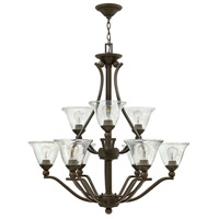 Bolla 9 Light 35 inch Olde Bronze Chandelier Ceiling Light in Clear Seedy, Clear Seedy Glass