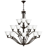 Hinkley 4659OB-OPAL Bolla 18 Light 48 inch Olde Bronze Foyer Chandelier Ceiling Light in Etched Opal