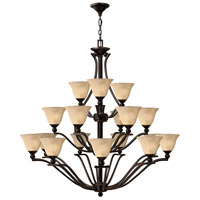 Bolla 18 Light 48 inch Olde Bronze Chandelier Ceiling Light in Amber Seedy, 3 Tier