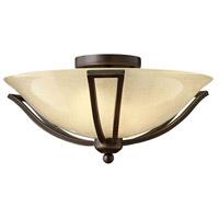 Hinkley 4660OB Bolla 2 Light 17 inch Olde Bronze Bath Flush Mount Ceiling Light in Incandescent Light Amber Seedy