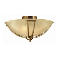 Bolla LED 17 inch Brushed Bronze Foyer Ceiling Light in Light Amber Seedy
