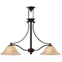 Hinkley 4662OB Bolla 2 Light 44 inch Olde Bronze Linear Chandelier Ceiling Light in Amber Seedy