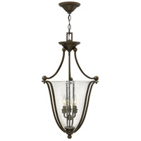 Hinkley 4663OB-CL Bolla 3 Light 16 inch Olde Bronze Inverted Pendant Ceiling Light in Clear Seedy, Clear Seedy Glass
