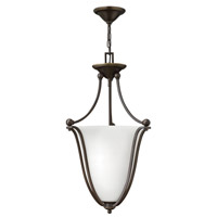 Hinkley 4663OB-OPAL Bolla 3 Light 16 inch Olde Bronze Inverted Pendant Ceiling Light in Etched Opal