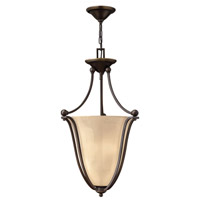 Bolla 3 Light 16 inch Olde Bronze Inverted Pendant Ceiling Light in Light Amber Seedy