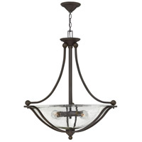 Hinkley 4664OB-CL Bolla 4 Light 30 inch Olde Bronze Inverted Pendant Ceiling Light in Incandescent, Clear Seedy