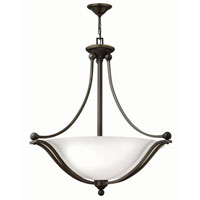 Bolla 3 Light 31 inch Olde Bronze Foyer Ceiling Light in Etched Opal, LED