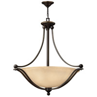 Hinkley 4664OB Bolla 4 Light 30 inch Olde Bronze Inverted Pendant Ceiling Light in Amber Seedy, Incandescent