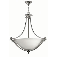 Bolla LED 31 inch Brushed Nickel Foyer Ceiling Light in Etched Opal