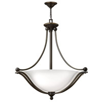 Bolla 4 Light 30 inch Olde Bronze Foyer Ceiling Light in Etched Opal, GU24, Etched Opal Glass