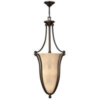 Bolla 6 Light 18 inch Olde Bronze Inverted Pendant Ceiling Light in Amber Seedy