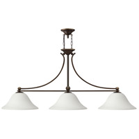 Hinkley 4666OB-OPAL Bolla 3 Light 56 inch Olde Bronze Linear Chandelier Ceiling Light in Etched Opal