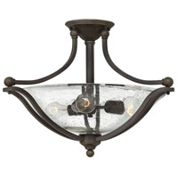 Hinkley 4669OB-CL Bolla 3 Light 23 inch Olde Bronze Foyer Semi-Flush Mount Ceiling Light in Incandescent, Clear Seedy