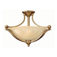 Bolla LED 23 inch Brushed Bronze Semi Flush Ceiling Light in Light Amber Seedy