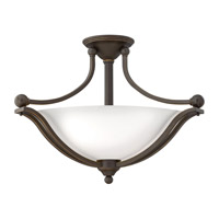 Bolla 3 Light 23 inch Olde Bronze Semi-Flush Mount Ceiling Light in Etched Opal, GU24, Etched Opal Glass