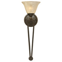 Bolla 1 Light 8 inch Olde Bronze Sconce Wall Light in Light Amber Seedy, Light Amber Seedy Glass