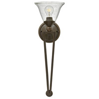 Hinkley Lighting Bolla 1 Light Sconce in Olde Bronze with Clear Seedy Glass 4671OB-CL