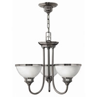 Hinkley Carina 3Lt Chandelier in Polished Antique Nickel 4673PL photo thumbnail