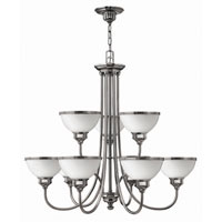 Hinkley Carina 2 Tier 9Lt Chandelier in Polished Antique Nickel 4678PL photo thumbnail