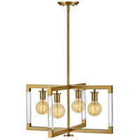 Hinkley 4684LCB Kellen 4 Light 24 inch Lacquered Brass Pendant Ceiling Light