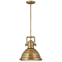 Hinkley 4697HB Keating 1 Light 14 inch Heritage Brass Pendant Ceiling Light
