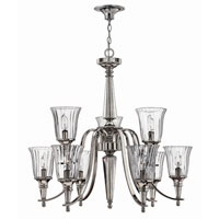 Hinkley Lighting Chandon 9 Light Chandelier in Sterling 4698SR photo thumbnail