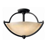 Hinkley Lighting Valley 2 Light Semi Flush in Vintage Black 4701VK