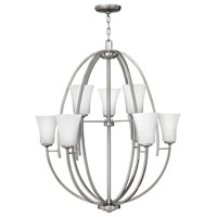 Hinkley Lighting Valley 9 Light Chandelier in Brushed Nickel 4708BN photo thumbnail