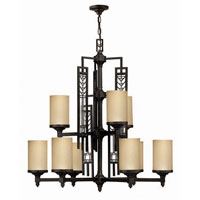 Hinkley Tahoe 2 Tier 9Lt Chandelier in Regency Bronze 4719RB photo thumbnail