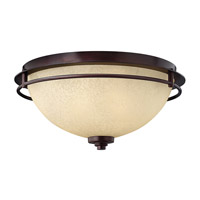 Stowe 2 Light 16 inch Metro Copper Flush Mount Ceiling Light
