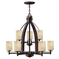 Hinkley 4728MC Stowe 9 Light 30 inch Metro Copper Chandelier Ceiling Light, 2 Tier