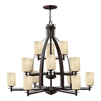 Hinkley 4729MC Stowe 15 Light 42 inch Metro Copper Chandelier Ceiling Light, 3 Tier
