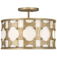 Hinkley 4733BNG Carter 3 Light 17 inch Burnished Gold Chandelier Ceiling Light