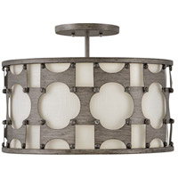 Hinkley 4733WBZ Carter 3 Light 17 inch Weathered Bronze Semi-Flush Mount Ceiling Light